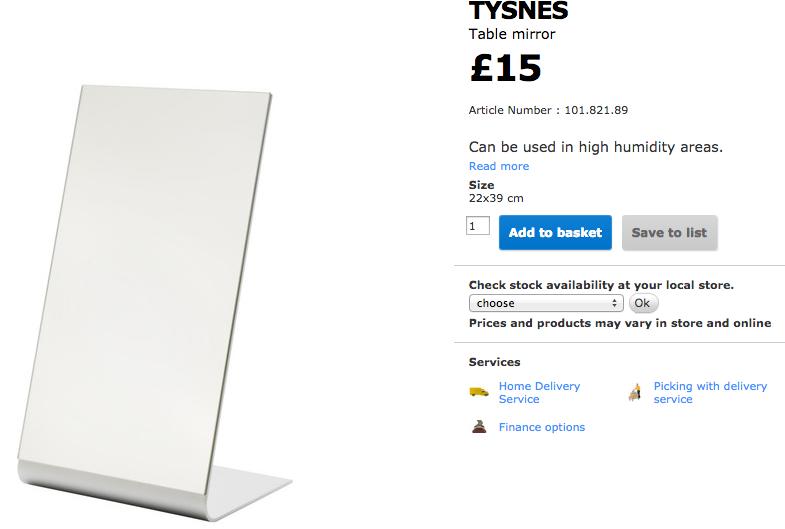 hackable mirror from IKEA